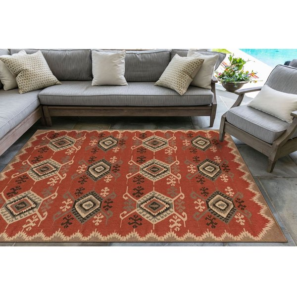 Red (7645-24) Southwestern Area-Rugs