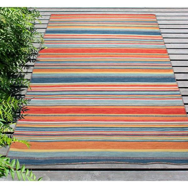 Sunscape (6258-14) Striped Area-Rugs