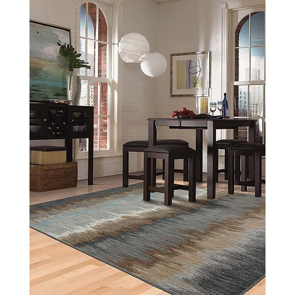 Abyss Blue (90261-880) Contemporary / Modern Area Rug