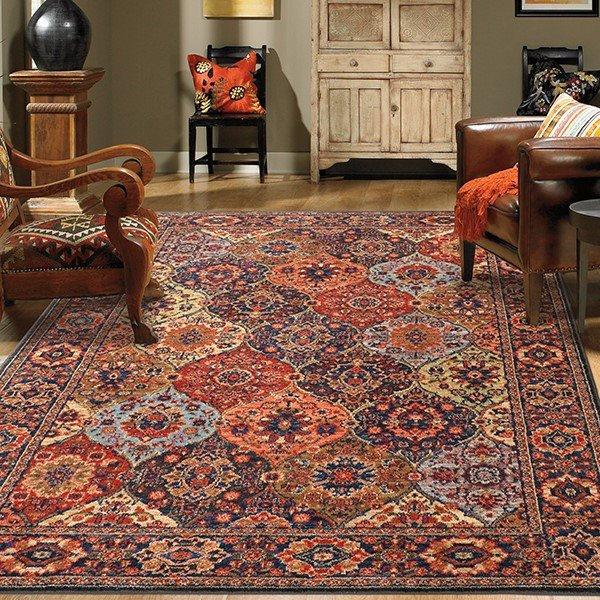 Red, Blue (90669-90097) Bohemian Area Rug