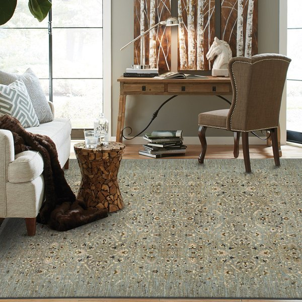 Seaglass, Ivory, Tobacco (16003) Traditional / Oriental Area Rug