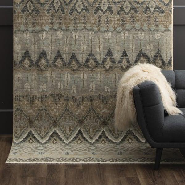 Gray (16010) Moroccan Area Rug