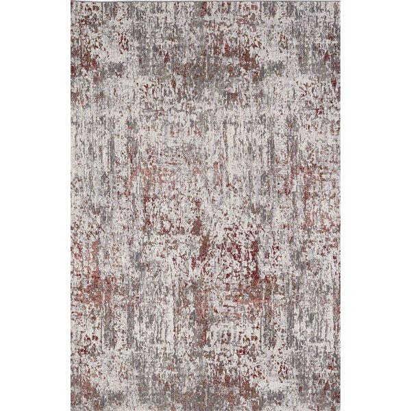 Red, Grey, Ivory (20054) Contemporary / Modern Area Rug