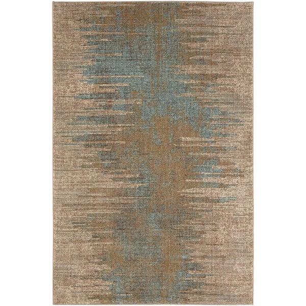 Hazelnut, Grey, Jadeite, (90948-80174) Contemporary / Modern Area Rug