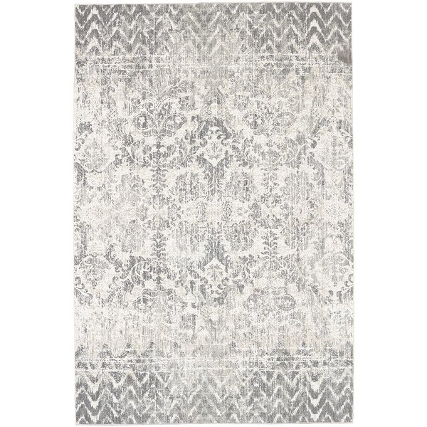 Willow Grey, White, Grey (91231-90075) Vintage / Overdyed Area Rug
