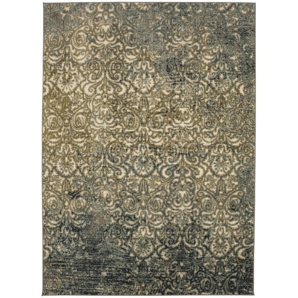 Blue, Teal (91517-50133) Vintage / Overdyed Area-Rugs