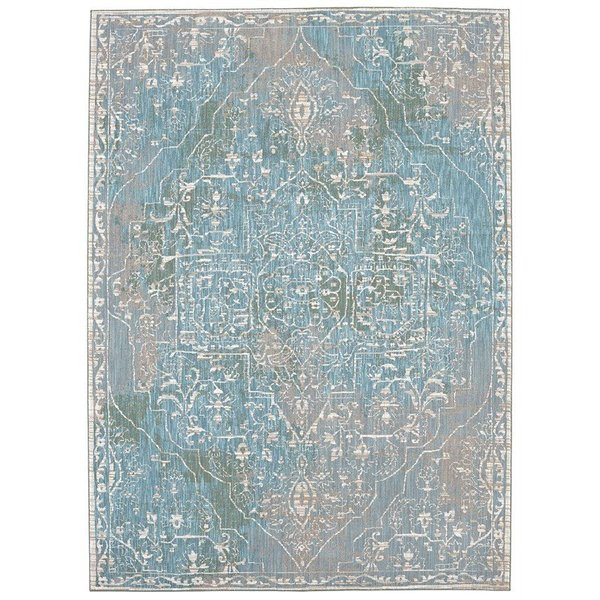 Lime, Grey, Curry (25012) Traditional / Oriental Area Rug