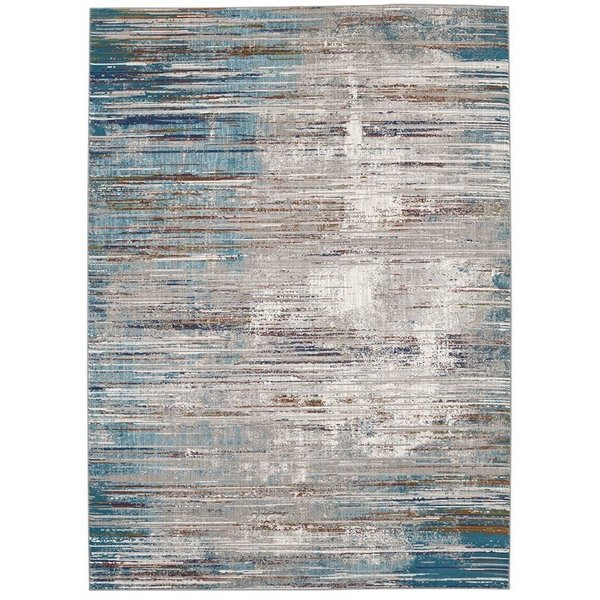 Lapis, Lagoon, Peacock (25014) Abstract Area Rug