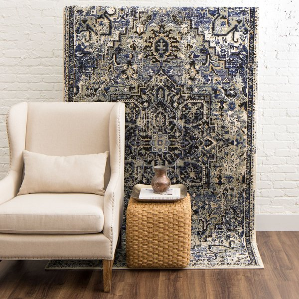 Blue, Grey, Black (Cobalt) Bohemian Area Rug