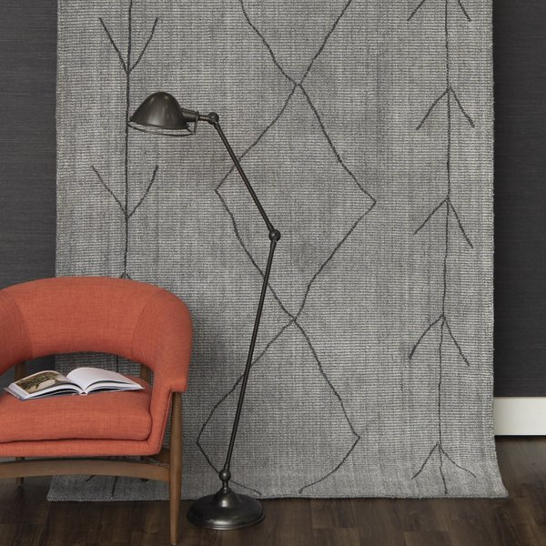 Charcoal (189-248) Moroccan Area-Rugs