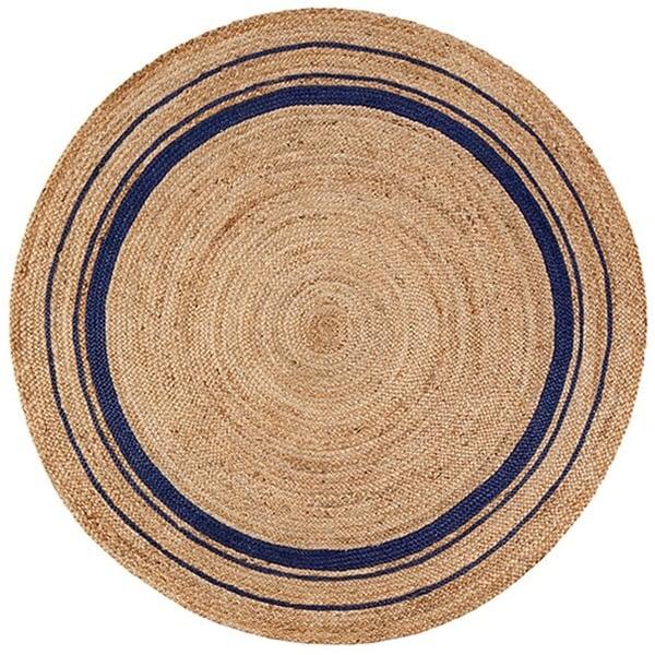 Tan, Gold, Blue (AMB-0363) Natural Fiber Area-Rugs