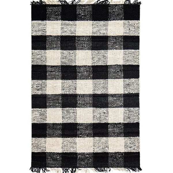 Black, Ivory Country Area Rug