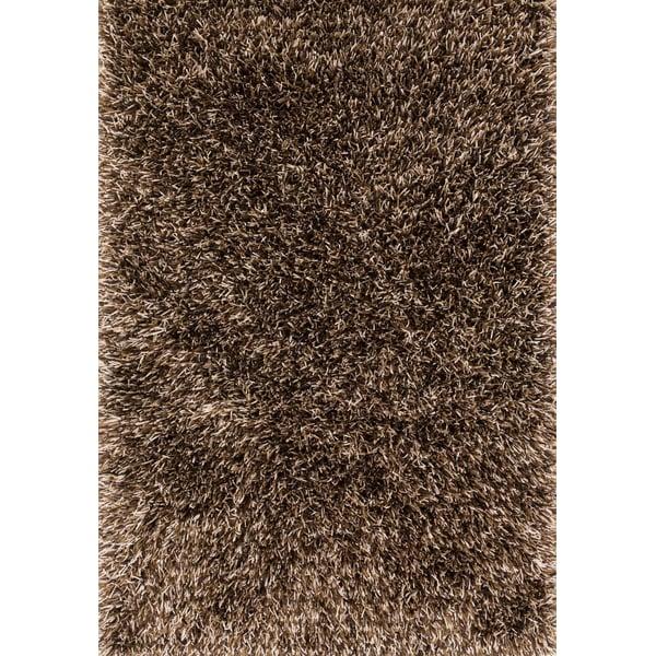 Brown, Beige Shag Area Rug