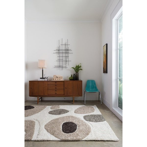 Ivory, Taupe Contemporary / Modern Area-Rugs