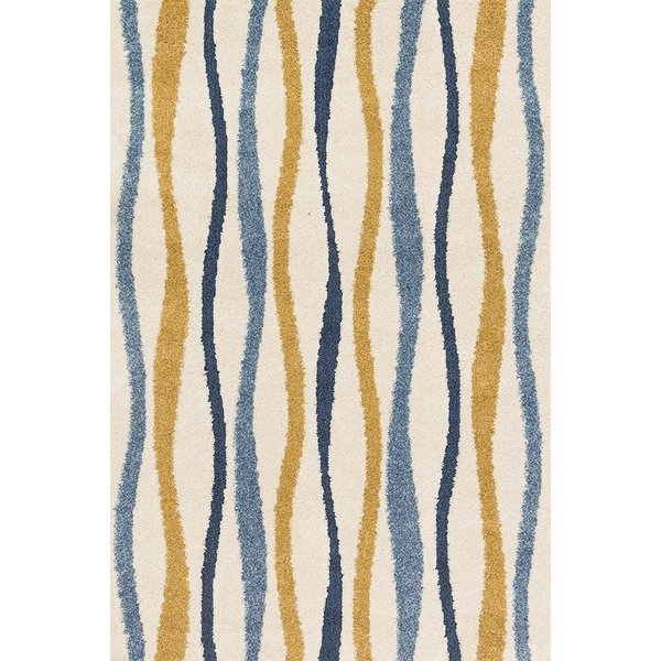 Ivory, Gold Contemporary / Modern Area Rug