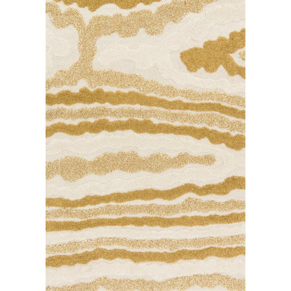 Ivory, Gold Contemporary / Modern Area-Rugs