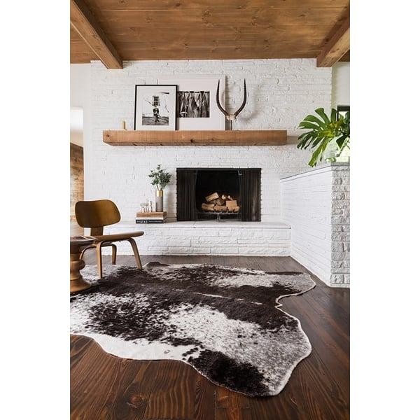 Ivory, Charcoal Animals / Animal Skins Area Rug