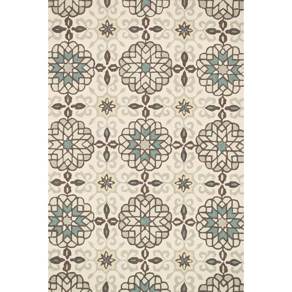 Ivory, Metal Contemporary / Modern Area Rug
