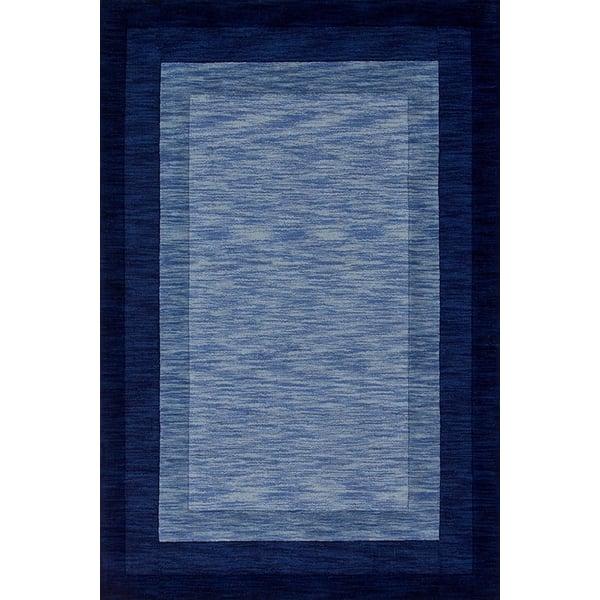 Navy Contemporary / Modern Area Rug