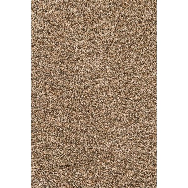 Brown, Ivory Shag Area Rug