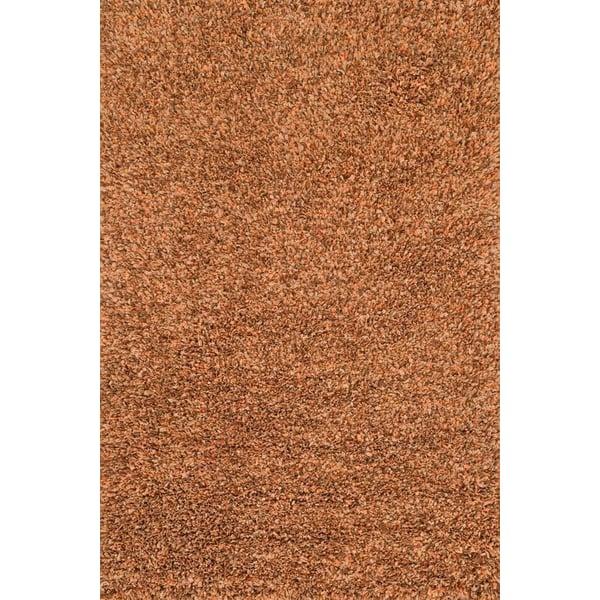 Rust Shag Area Rug