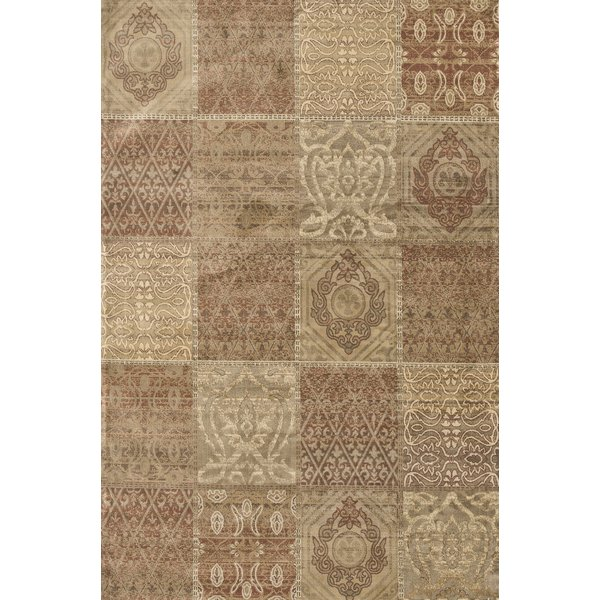 Cinnamon, Beige Contemporary / Modern Area Rug