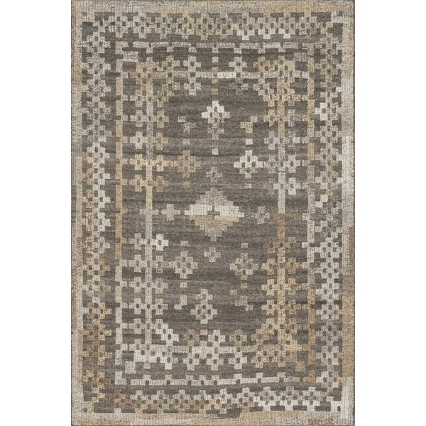 Charcoal, Taupe Moroccan Area Rug