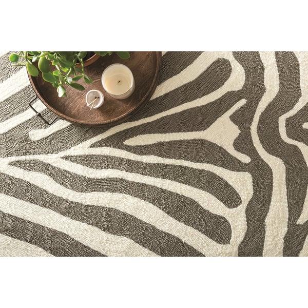 Grey, White Animals / Animal Skins Area Rug