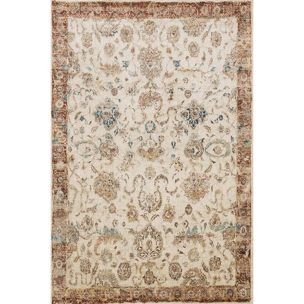 Antique Ivory, Rust Vintage / Overdyed Area Rug
