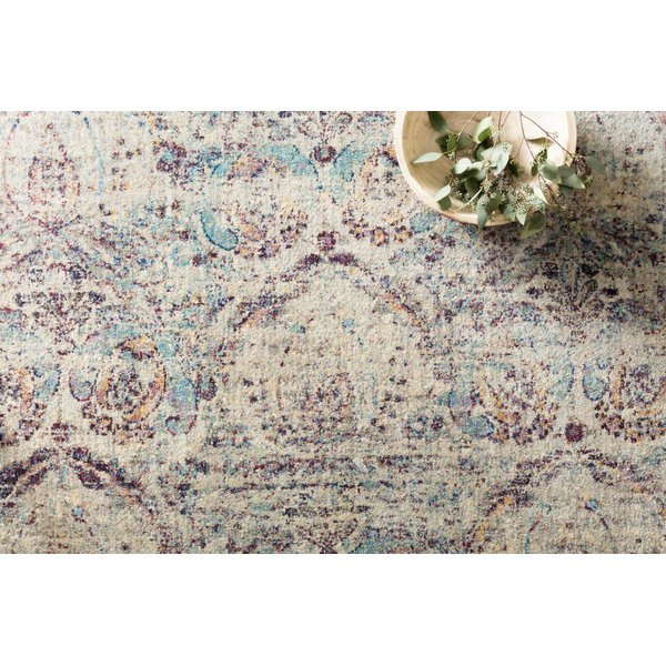 Silver, Plum Vintage / Overdyed Area Rug