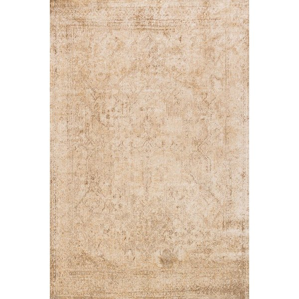 Ivory, Light Gold Vintage / Overdyed Area Rug