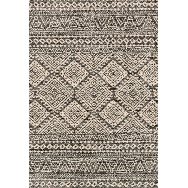 Graphite, Ivory Moroccan Area Rug