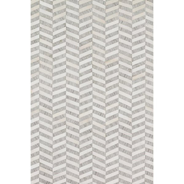 Grey, Ivory Animals / Animal Skins Area Rug