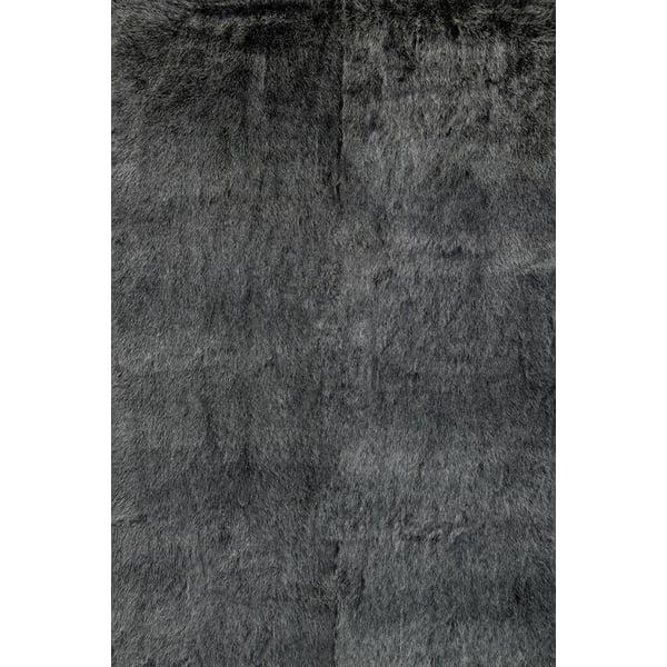 Black, Charcoal Shag Area-Rugs