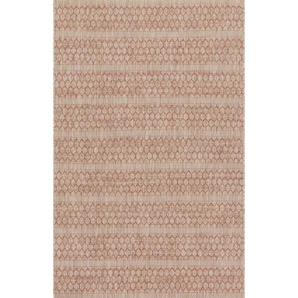 Beige, Rust Contemporary / Modern Area-Rugs