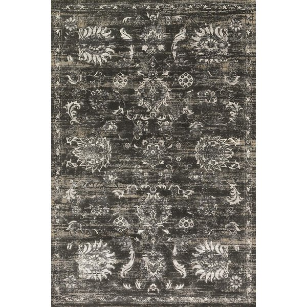 Charcoal, Silver Vintage / Overdyed Area Rug