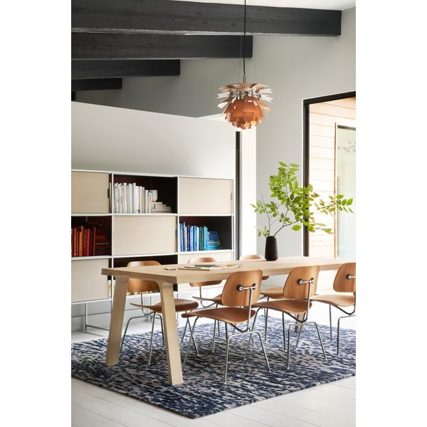 Steel, Blue Contemporary / Modern Area-Rugs