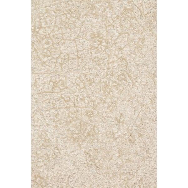 Antique Ivory, Beige Contemporary / Modern Area Rug