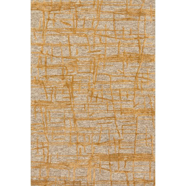 Natural, Gold Contemporary / Modern Area Rug