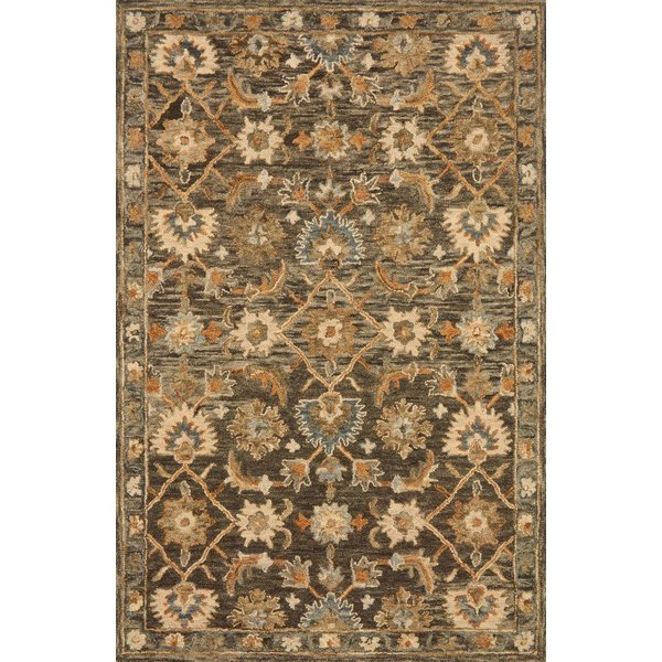 Dark Taupe Traditional / Oriental Area Rug