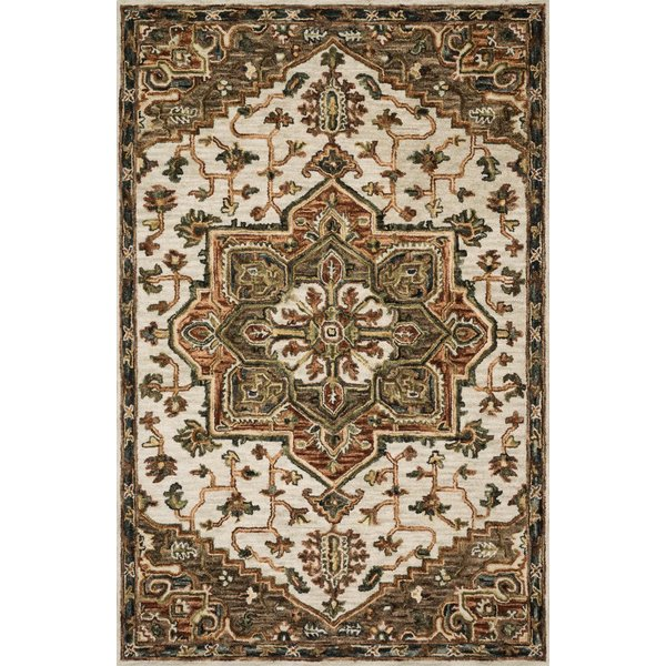 Ivory, Tobacco Traditional / Oriental Area Rug