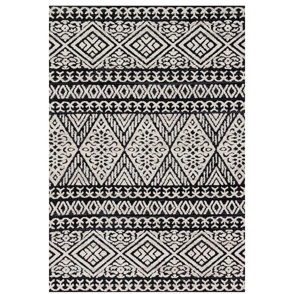 Black, Silver Moroccan Area-Rugs