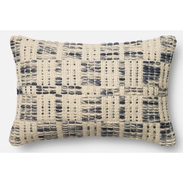 Blue, Ivory Contemporary / Modern pillow