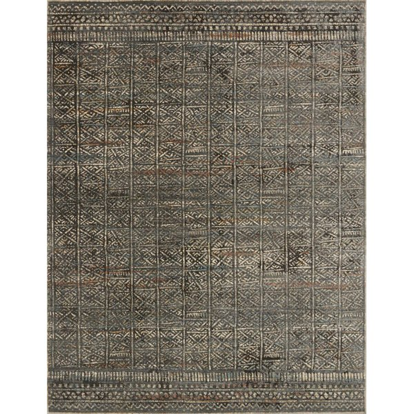 Charcoal, Silver Moroccan Area Rug