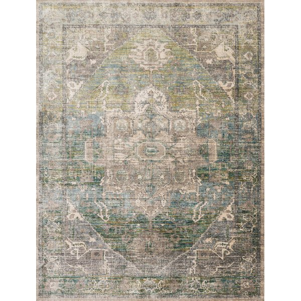 Grass, Ocean Vintage / Overdyed Area-Rugs