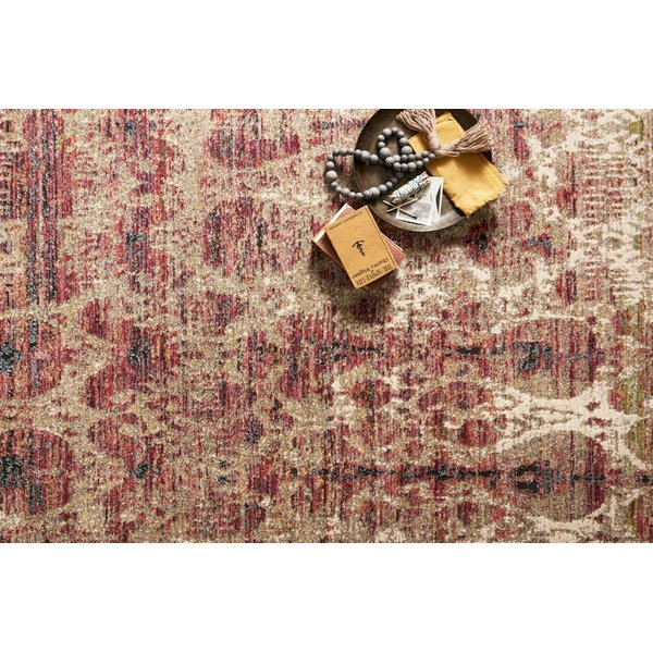 Drizzle, Berry Moroccan Area Rug