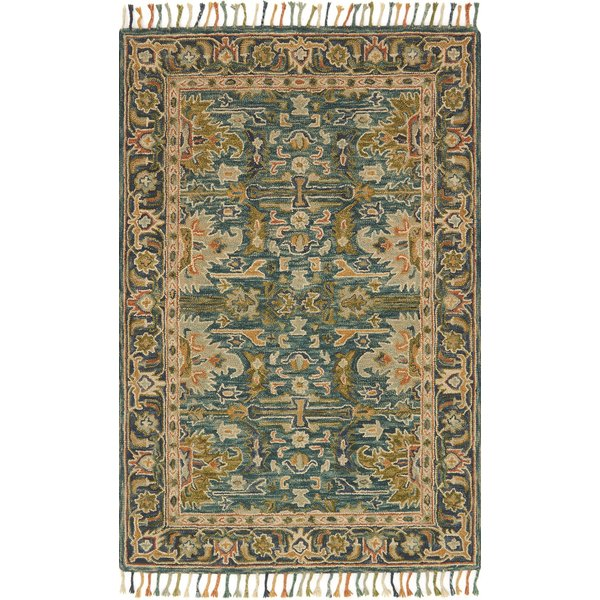 Blue, Navy Bohemian Area Rug