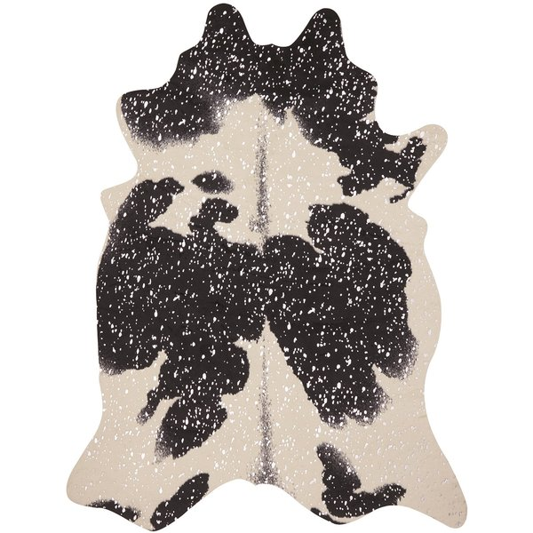 Black, Silver Animals / Animal Skins Area Rug