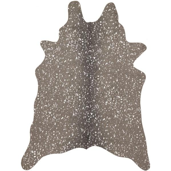 Graphite, Silver Animals / Animal Skins Area Rug