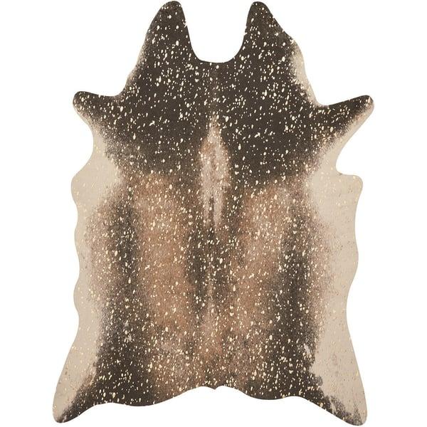 Mocha, Gold Animals / Animal Skins Area Rug